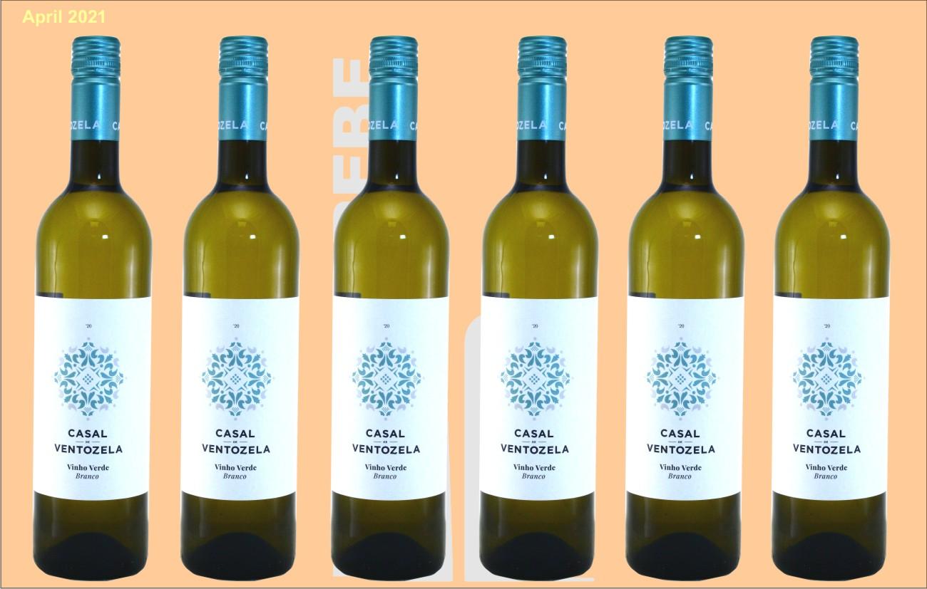6er Karton Casal de Ventozela, Vinho Verde Branco - Weißwein