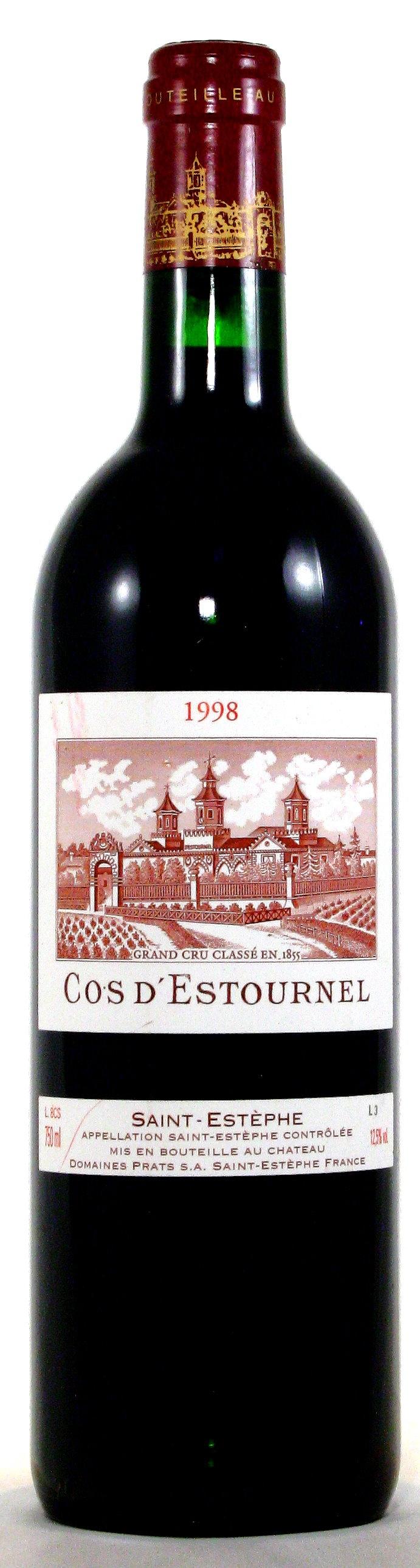 1998 Château Cos d'Estournel, Saint-Estephe Bordeaux