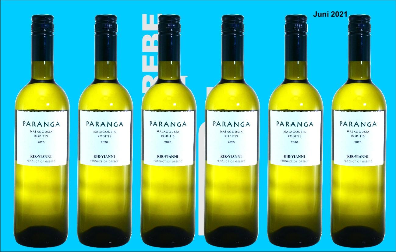 6er Karton 2020 Paranga White, Kir-Yianni, Mazedonien, Griechenland