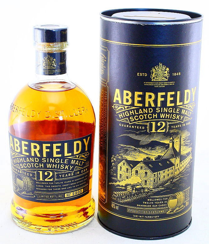 Aberfeldy 12 Years, Single Malt Whisky, Schottland