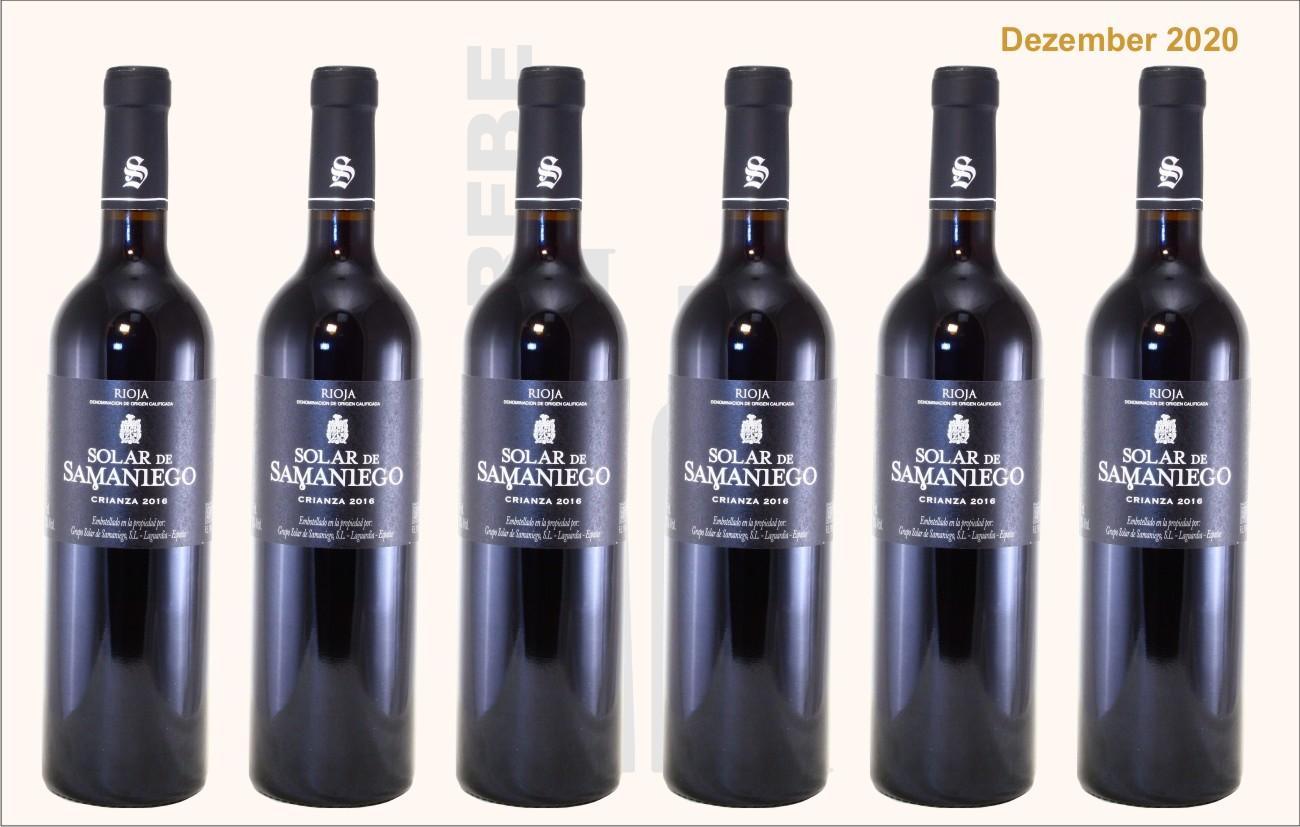 6er Karton Solar de Samaniego Rioja Crianza, Bodegas Alavesas