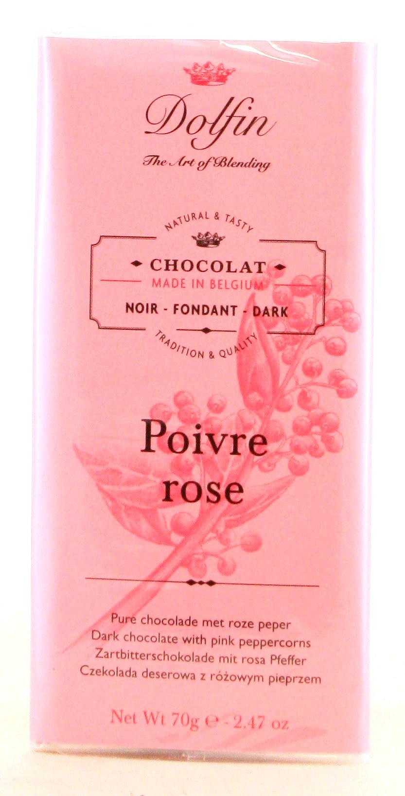 Chocolat Noir au Poivre Rosé