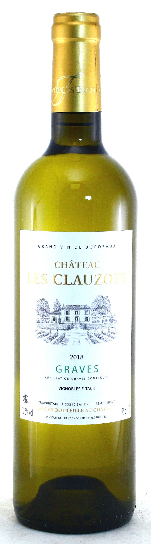 2018 Château les Clauzos, Weißwein trocken, Graves, Bordeaux