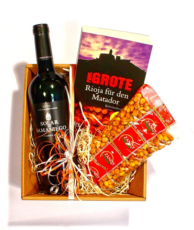 "Präsentkorb Wein & Crime ""Rioja für den Matador"""