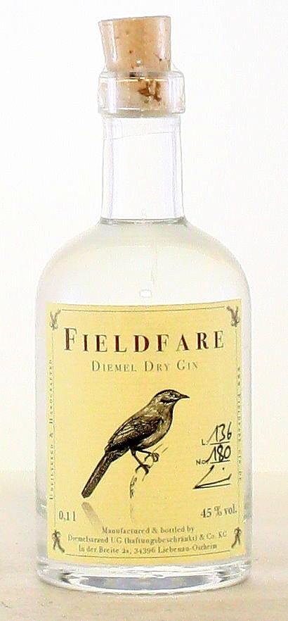 100 ml Fieldfare, Diemel Dry Gin, Deutschland