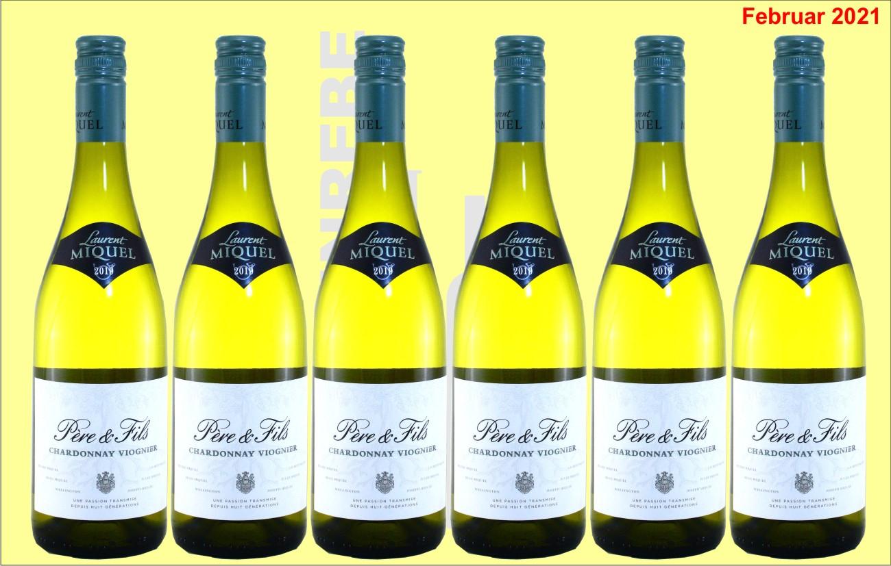 6er Karton Chardonnay-Viognier Père&Fils, Laurent Miquel, Languedoc