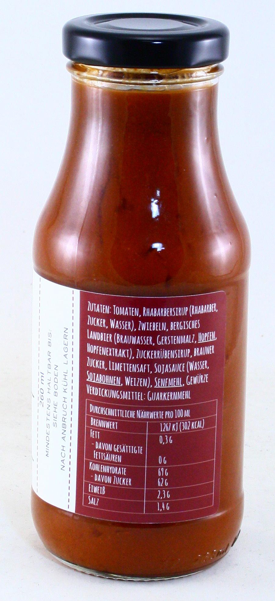 BBQ-Sauce mit bergischem Landbier, Oberbergisches Produkt, Genussmanufaktur Königskind