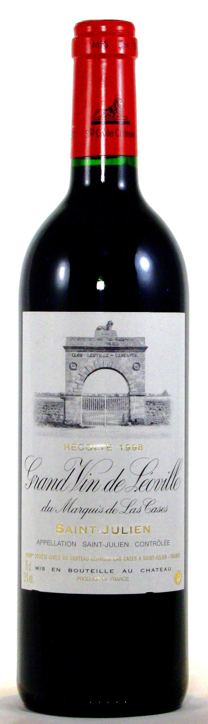 1998 Château Léoville las Cases, 2. Grand Cru Classé Saint Julien, Médoc Bordeaux