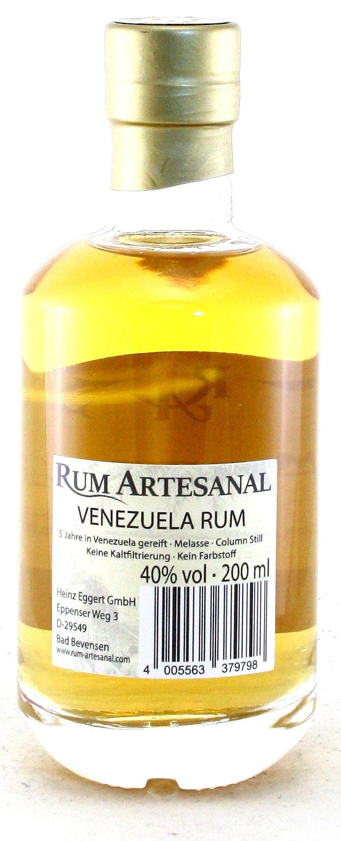 200 ml Ron de Venezuela, Rum Artesanal Venezuela