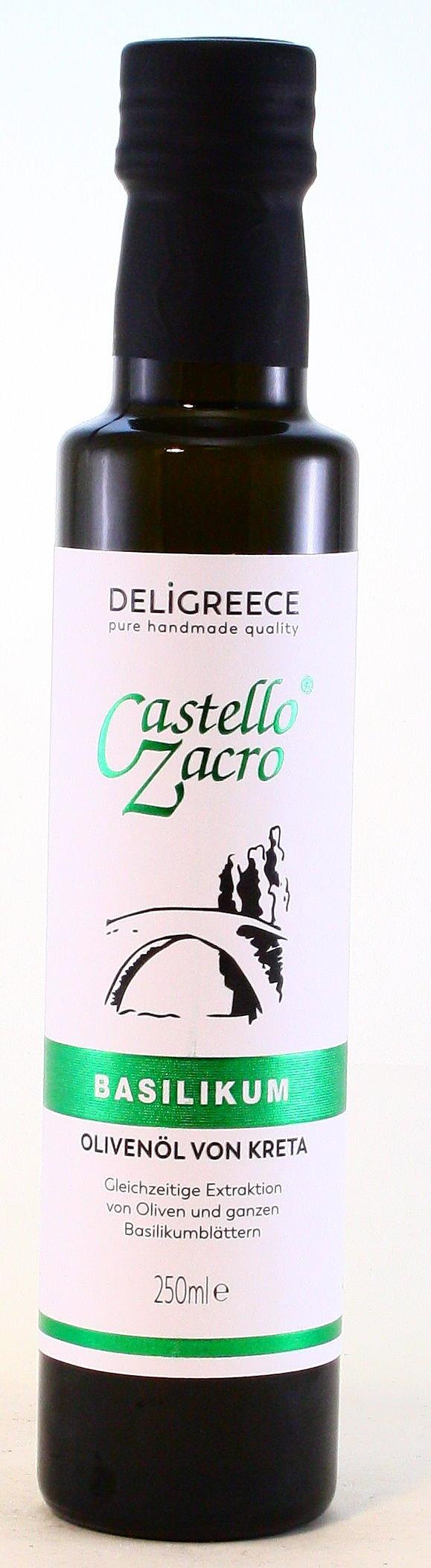 Olivenöl Basilikum, Castello Zacro
