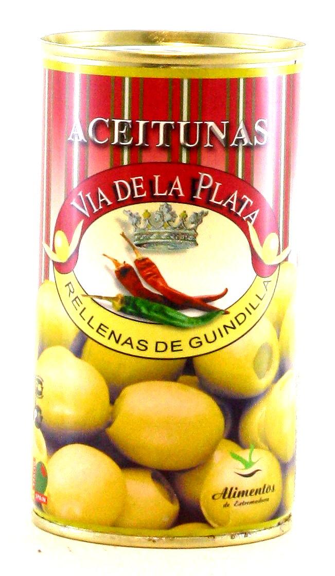 Olivas Rellenas de Guindilla - Oliven mit Peperonifüllung