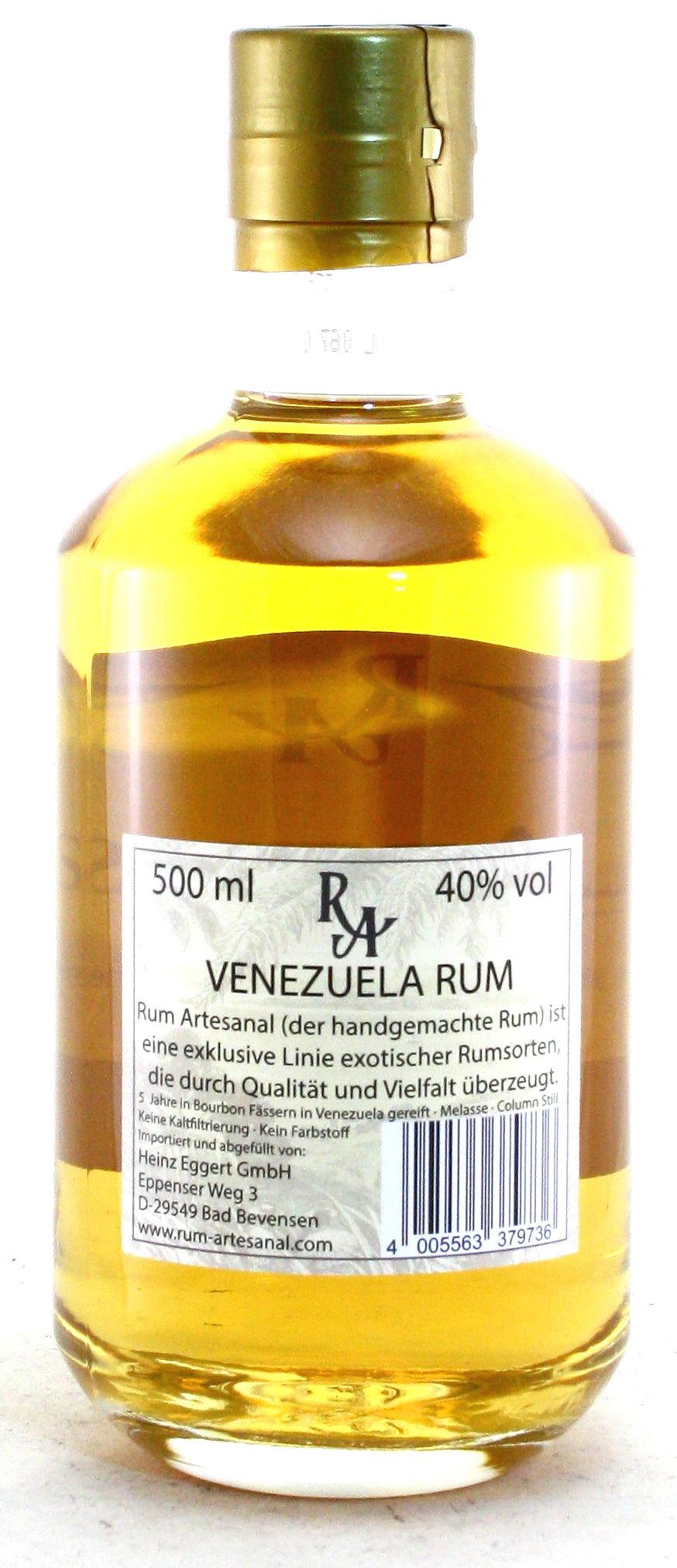 500 ml Ron de Venezuela, Rum Artesanal Venezuela