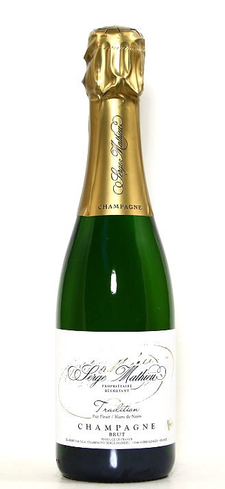 Champagner Tradition Pur Pinot, Serge Mathieu, Demi Bouteille