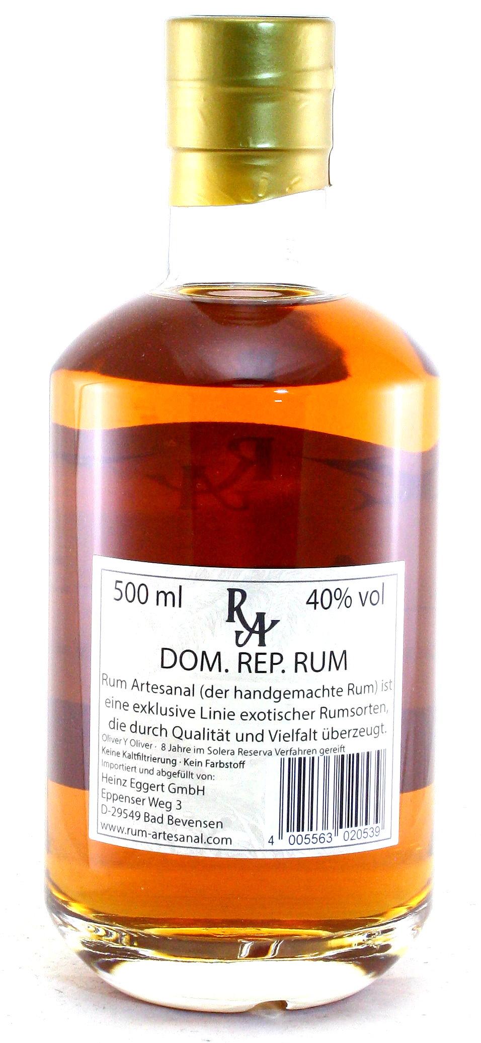 500 ml Ron de Republica Dominicana, Rum Artesanal Dom. Rep.