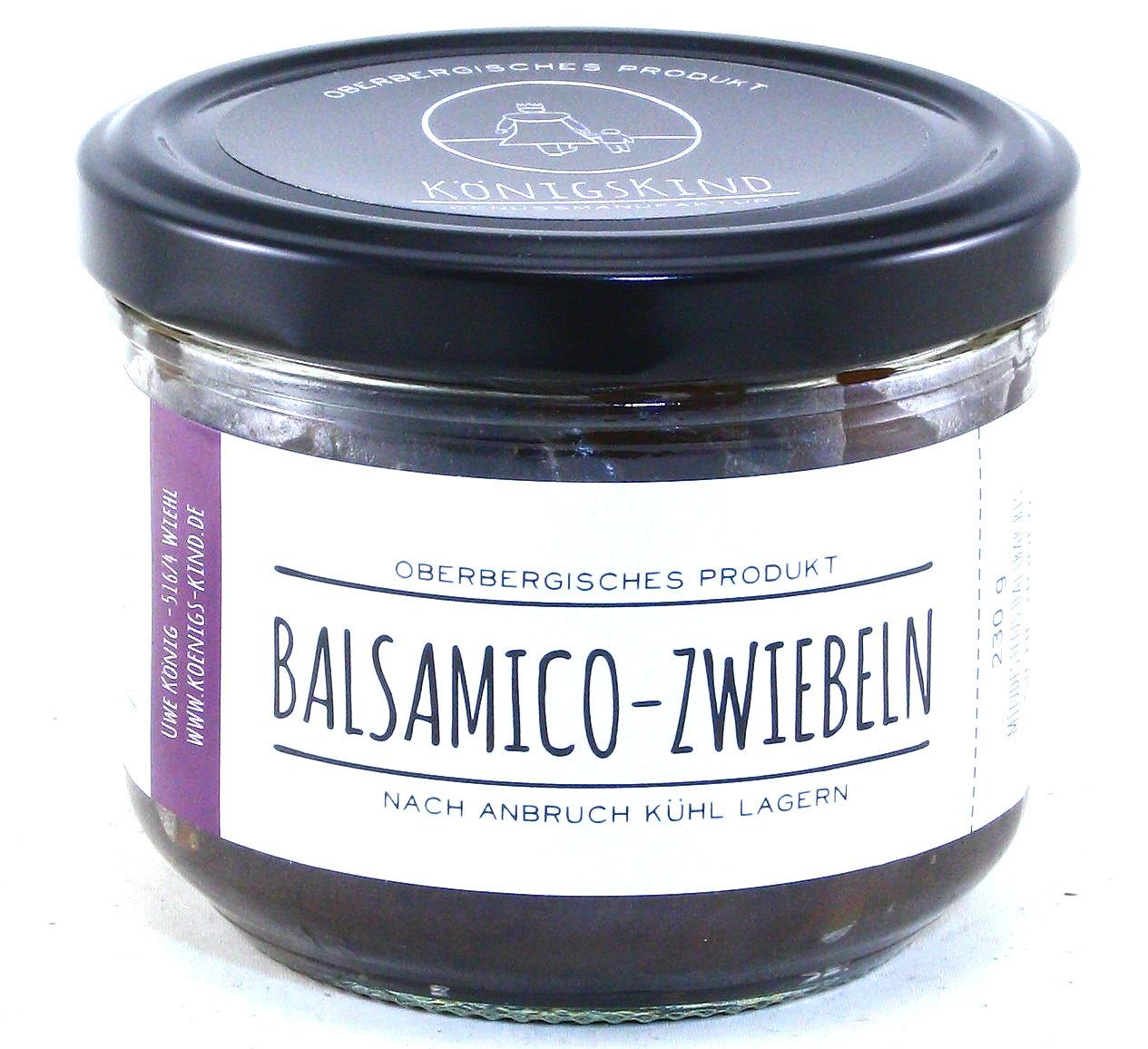 Balsamico Zwiebeln, Oberbergisches Produkt, Genussmanufaktur Königskind