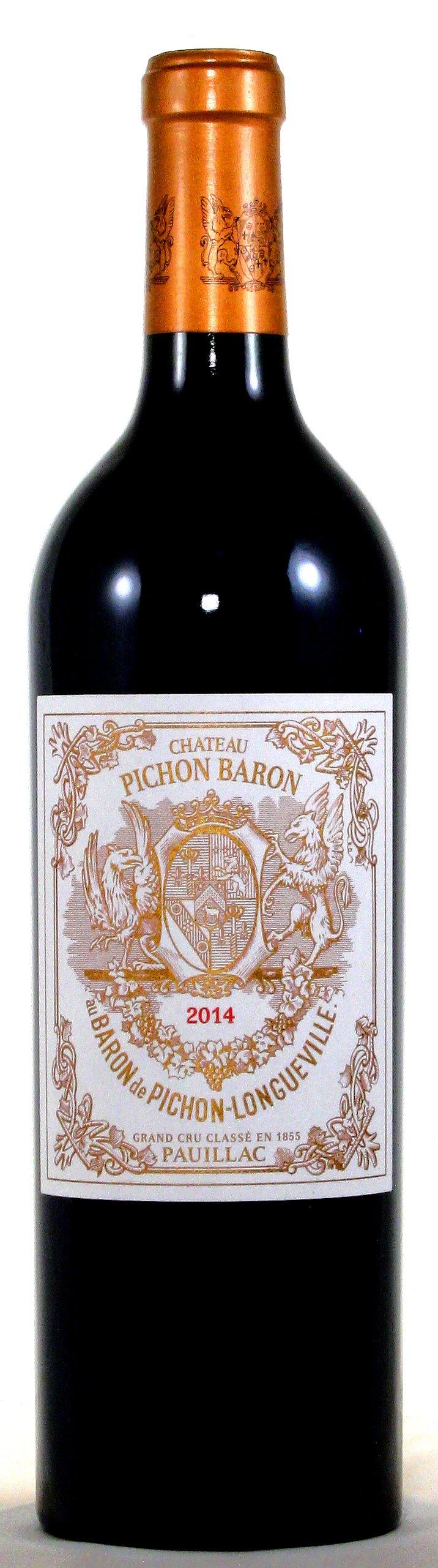 2014 Château Pichon-Longueville Baron, Pauillac, Médoc Bordeaux
