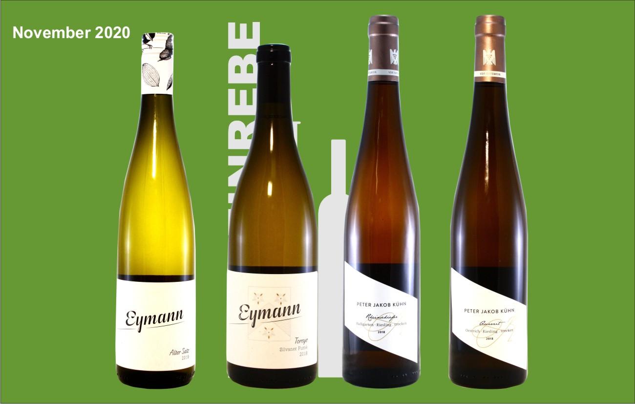 Der 4er November Weißwein-Probierkarton
