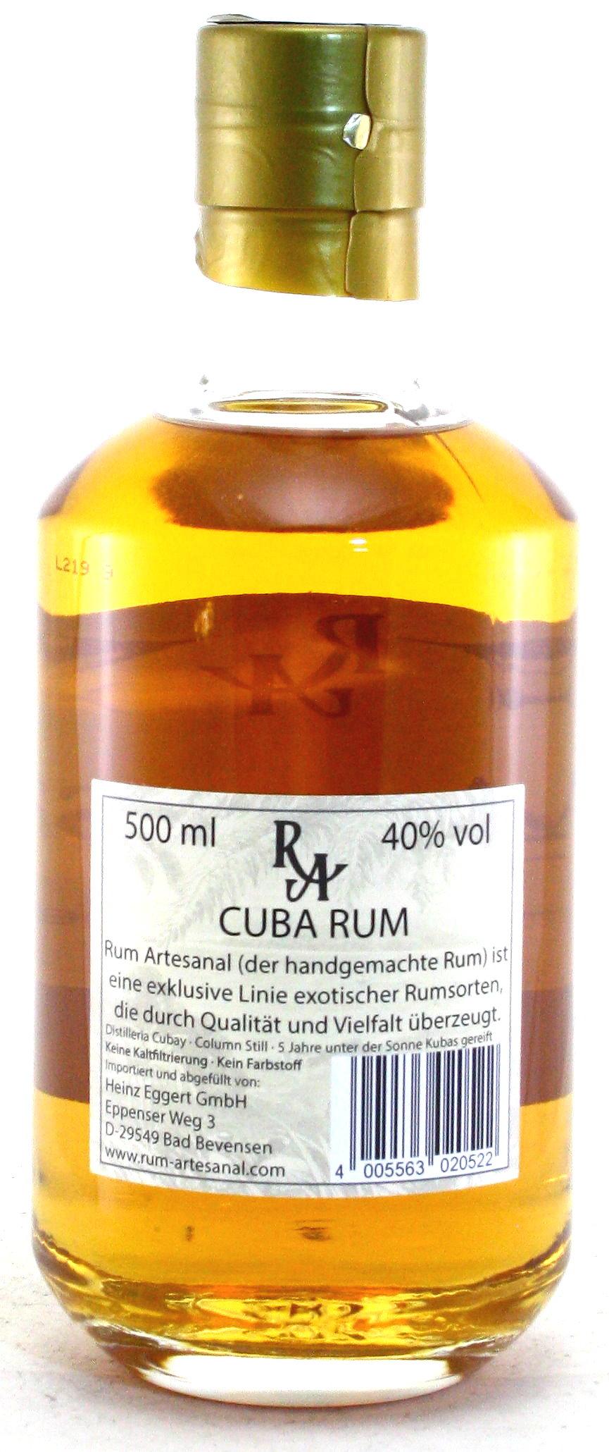 500 ml Ron de Republica de Cuba, Rum Artesanal Kuba