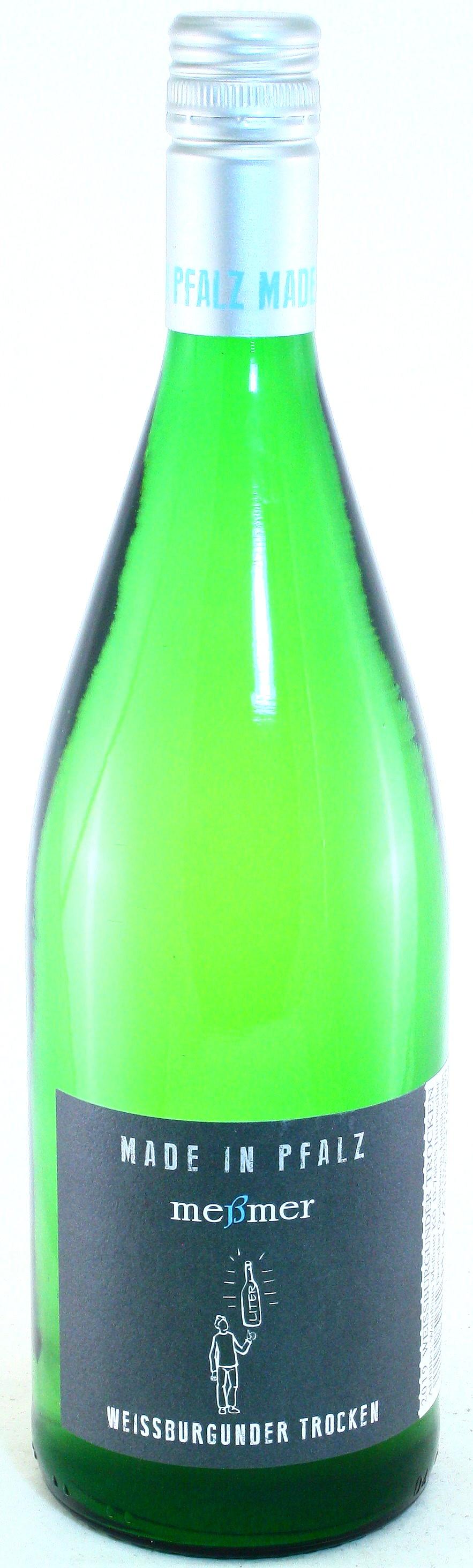 2019 1 Liter Meßmer Weißburgunder trocken, Meßmer - Pfalz